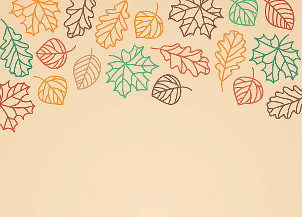 Fall Leaves Background Fall leaf background with space for your copy. maple leaf illustrations stock illustrations