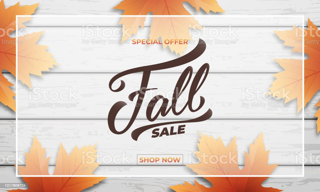 fall sale background layout design fall lettering fall leaves and