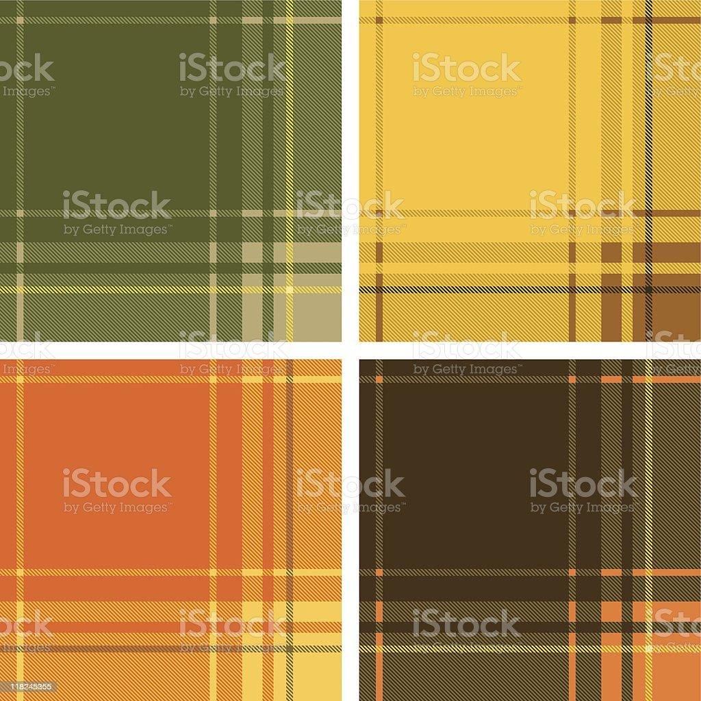 Fall Tartan (Seamless) royalty-free stock vector art