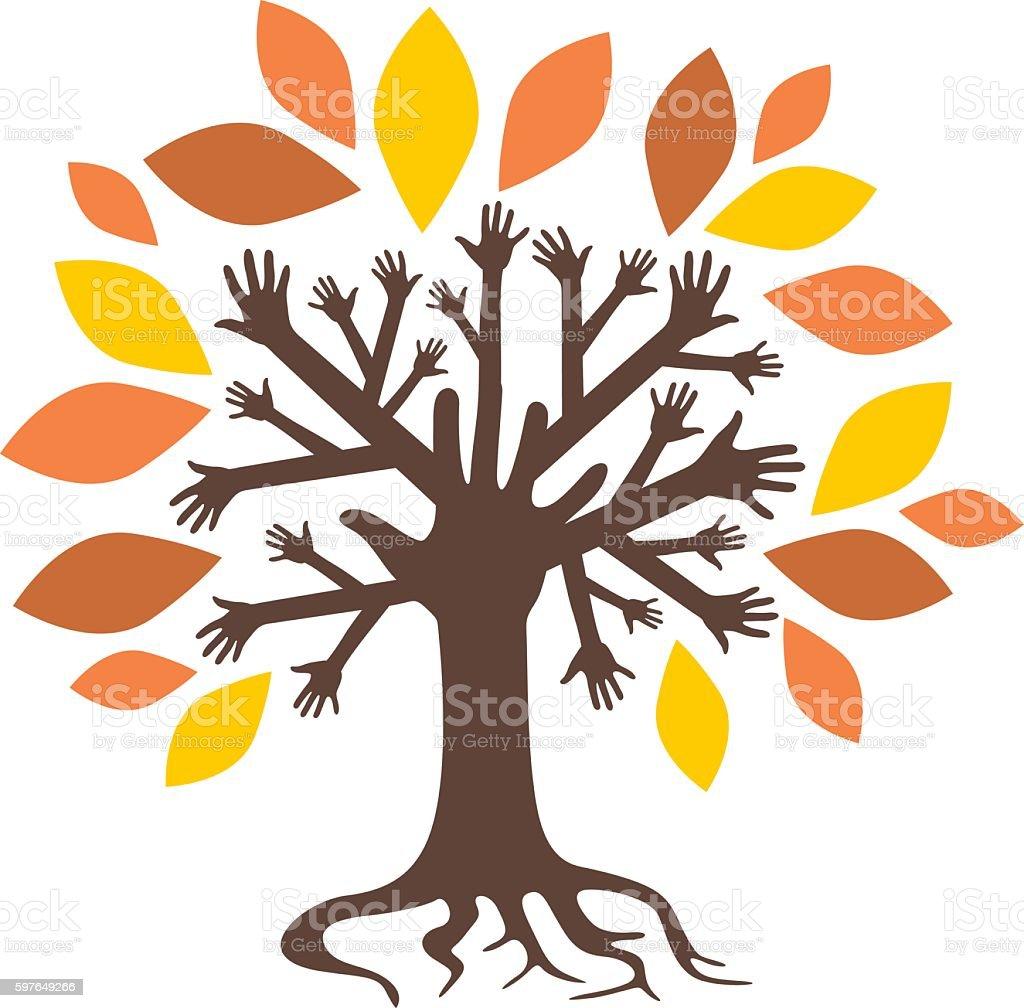 Fall tree vector art illustration