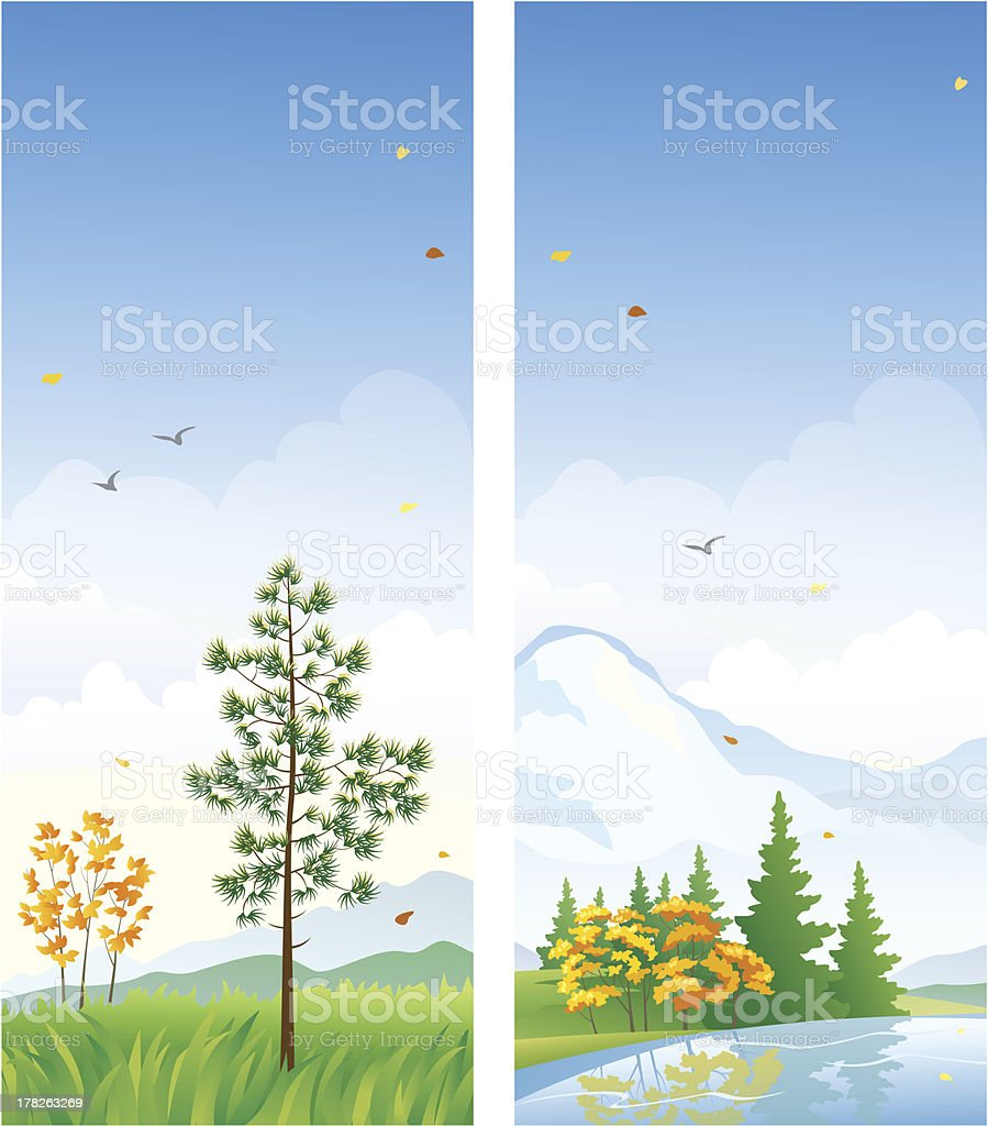 Fall vertical banners royalty-free stock vector art