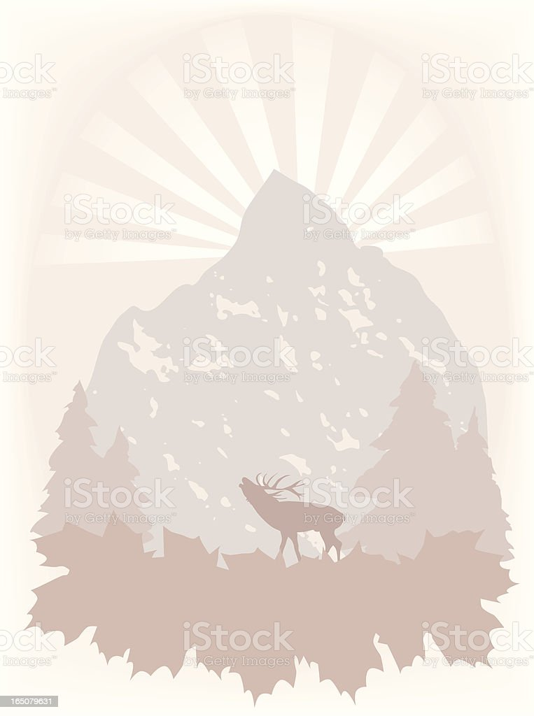 Fall vignette background royalty-free stock vector art