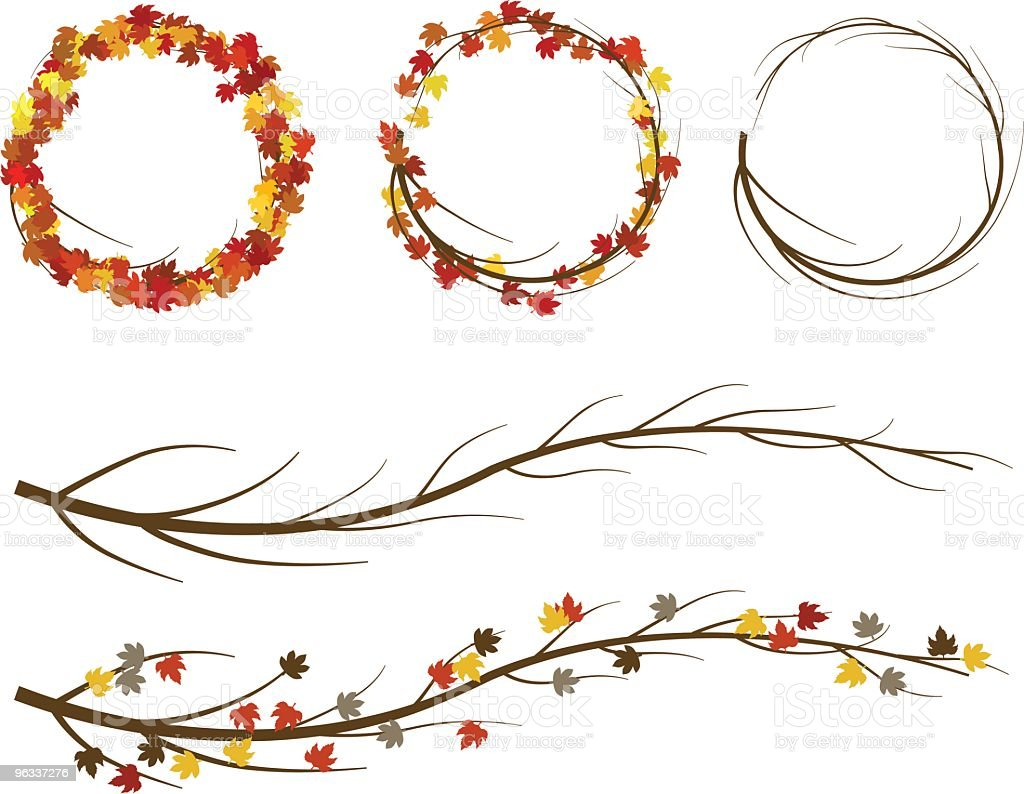 Fall Wreaths ~ Vector royalty-free fall wreaths vector stock vector art & more images of autumn