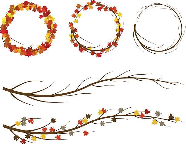 Jesień Wreaths ~ Wektor – artystyczna grafika wektorowa