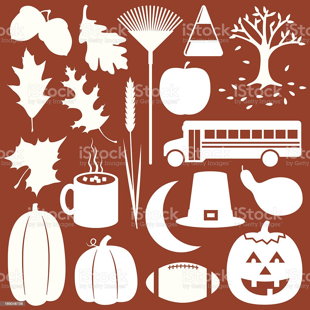 Fall/Autumn Elements royalty-free fallautumn elements stock vector art & more images of acorn