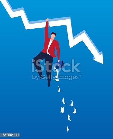 618516848istockphoto Falling arrows and scattered files 882664114