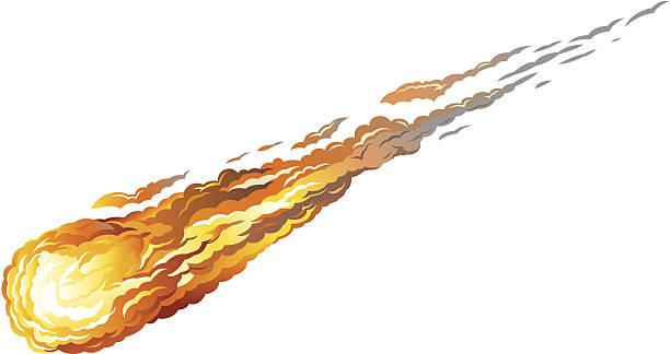 Falling Asteriod vector art illustration