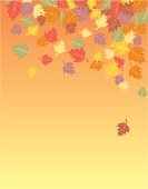 Falling Autumn Leaves - Background