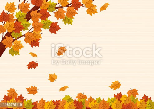 istock Falling autumn leaves. Vector illustration. 1165575119
