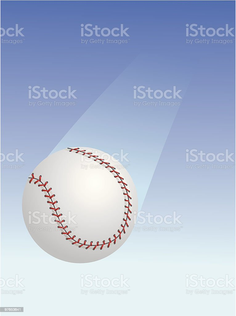 Falling Baseball royalty-free stock vector art