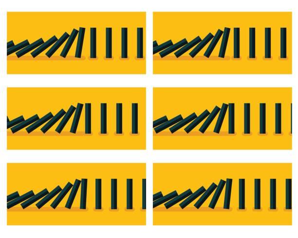 黃色背景的下降黑色的多米諾骨牌動畫雪碧 - gif 幅插畫檔、美工圖案、卡通及圖標
