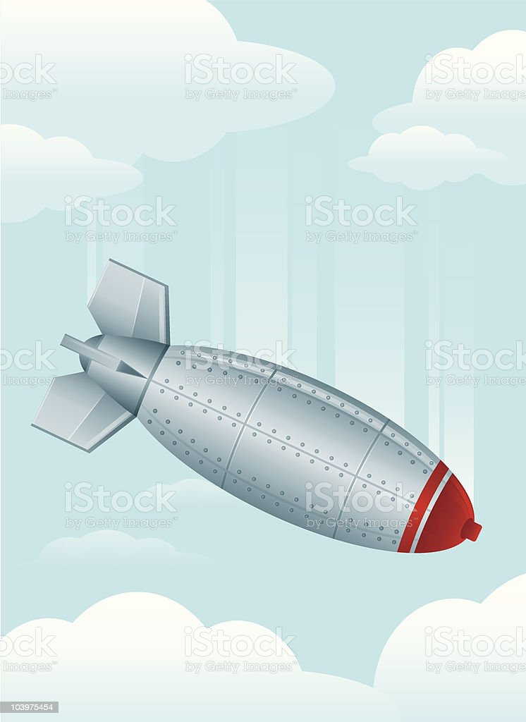 Falling Bomb royalty-free stock vector art