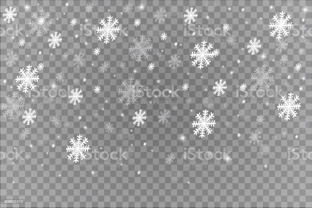 Weihnachten Scheint Transparent Schöne Schneeflocken Auf ...