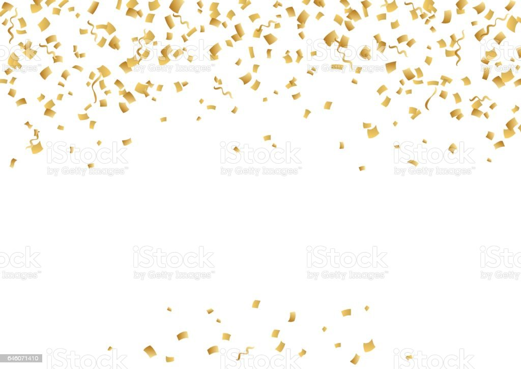 Falling confetti and serpentine. Vector holiday decoration. vector art illustration