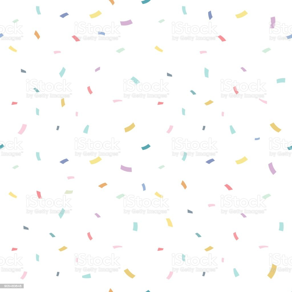 Falling confetti with white background, vector illustration vector art illustration