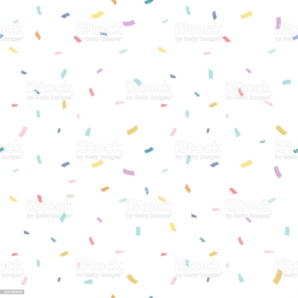 Chute de confettis avec fond blanc, illustration vectorielle - Illustration vectorielle