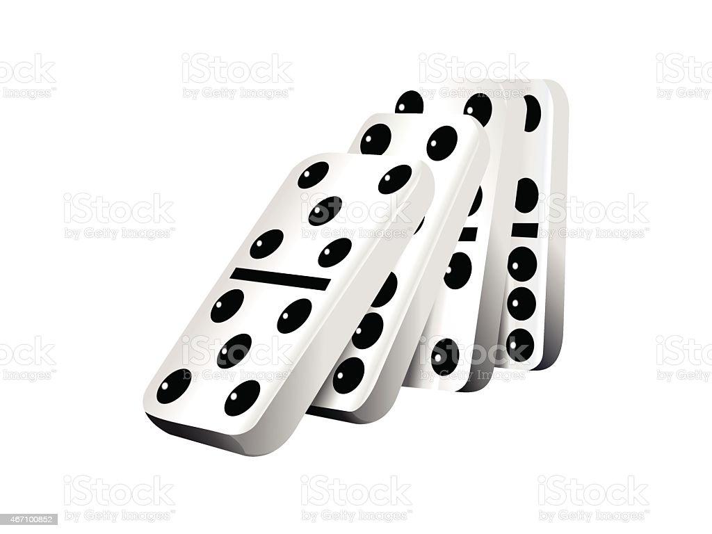 Falling dominoes, vector illustration vector art illustration