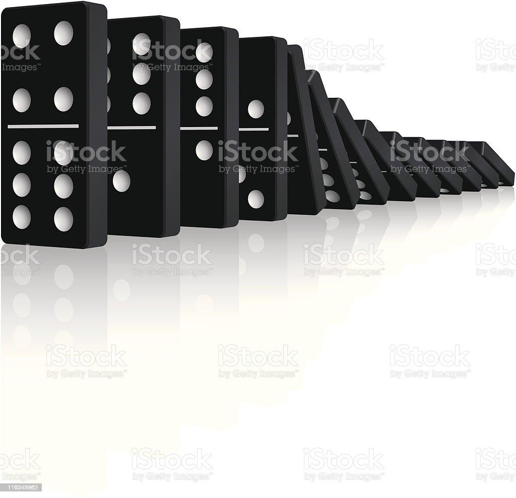 Falling Dominos vector art illustration