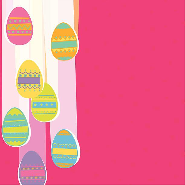 Falling Easter Eggs vector art illustration