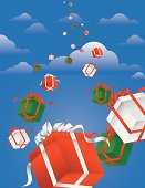 istock Falling Gift Boxes 165792778