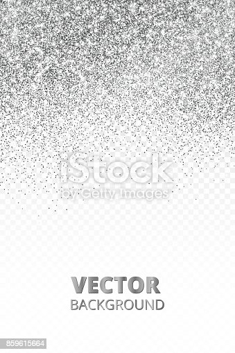 falling glitter confetti vector silver dust isolated on