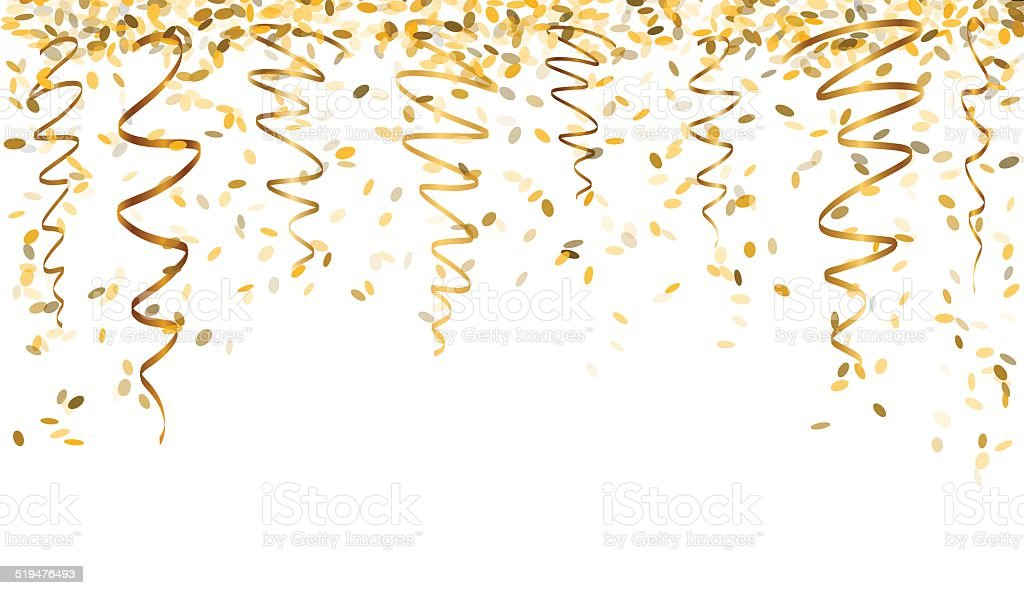 gold confetti falling falling gold confetti stock vector art more images of 1345