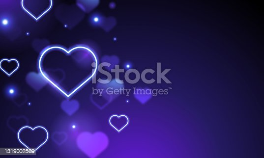 istock Falling hearts isolated on white background. Symbol of love. Vector illustration 1319002569