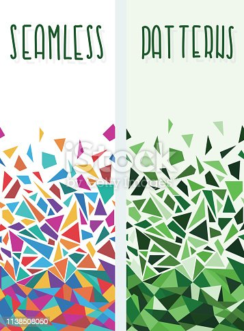 A set of horizontally seamless patterns. EPS10, global colors, vector illustration.