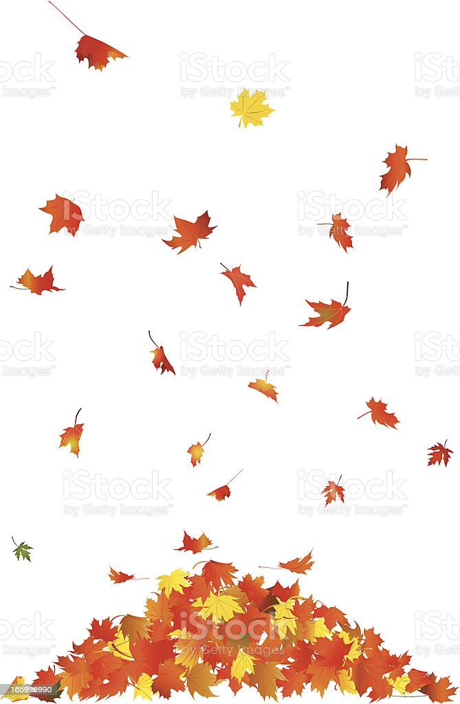 Falling Leaves vector art illustration