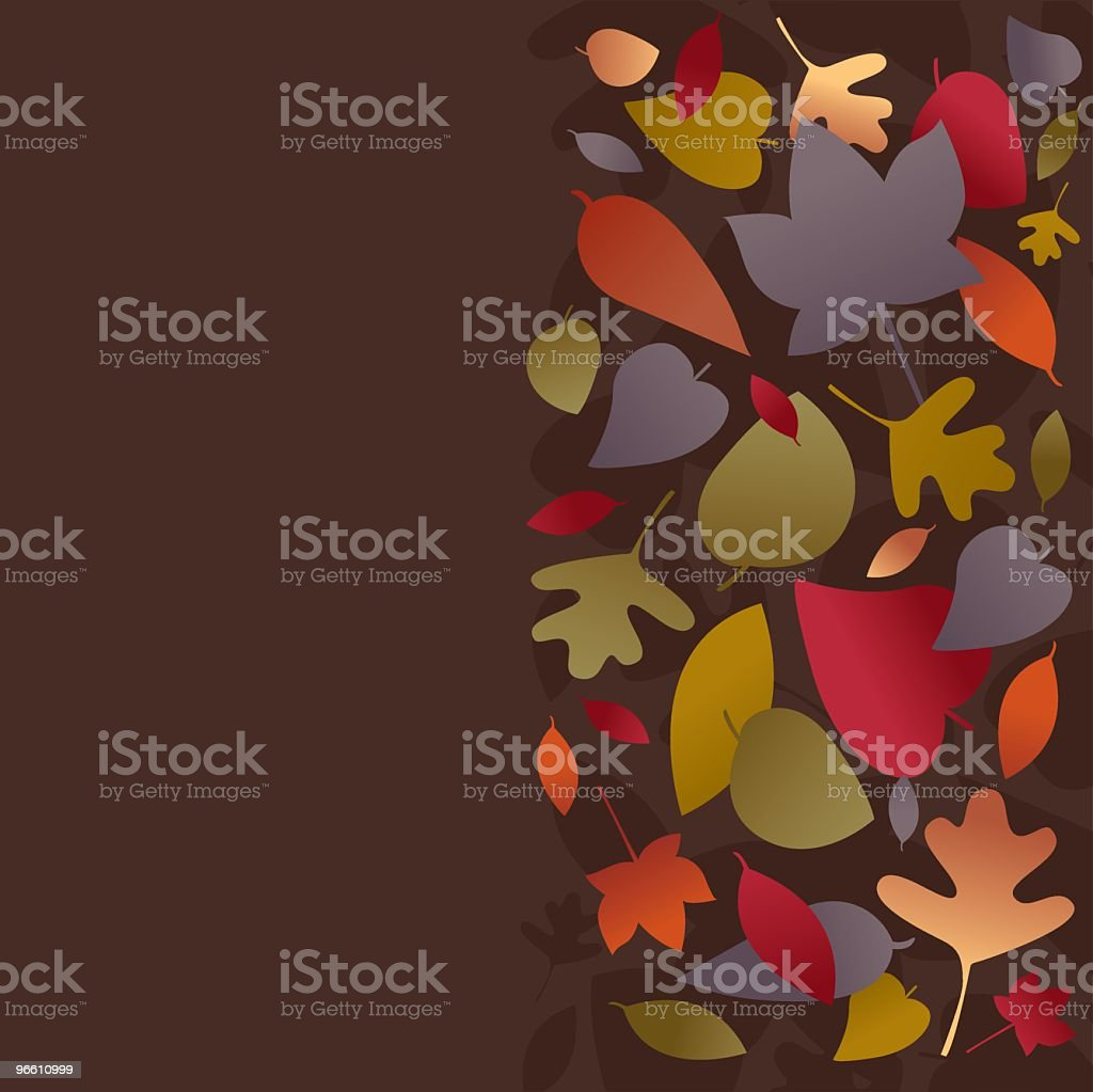Falling Leaves - Royalty-free Achtergrond - Thema vectorkunst
