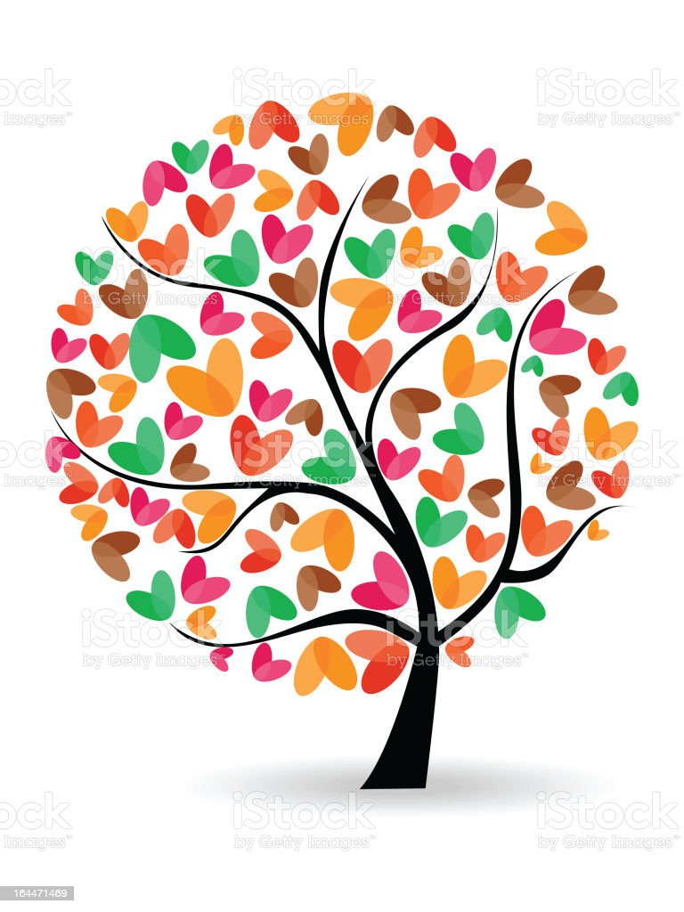 Falling Love tree for every season royalty-free falling love tree for every season stock vector art & more images of abstract
