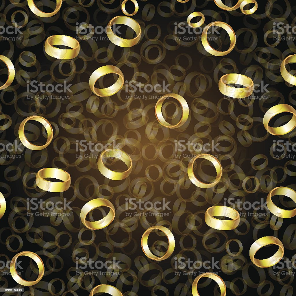 falling of rings royalty-free stock vector art