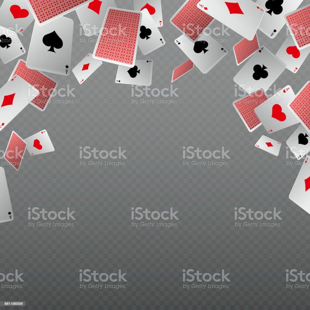 Isolar quedas jogando cartas. Modelo de vetor para o conceito de casino e apostas - ilustração de arte em vetor