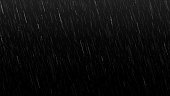 istock Falling raindrops isolated on black background 1261069378