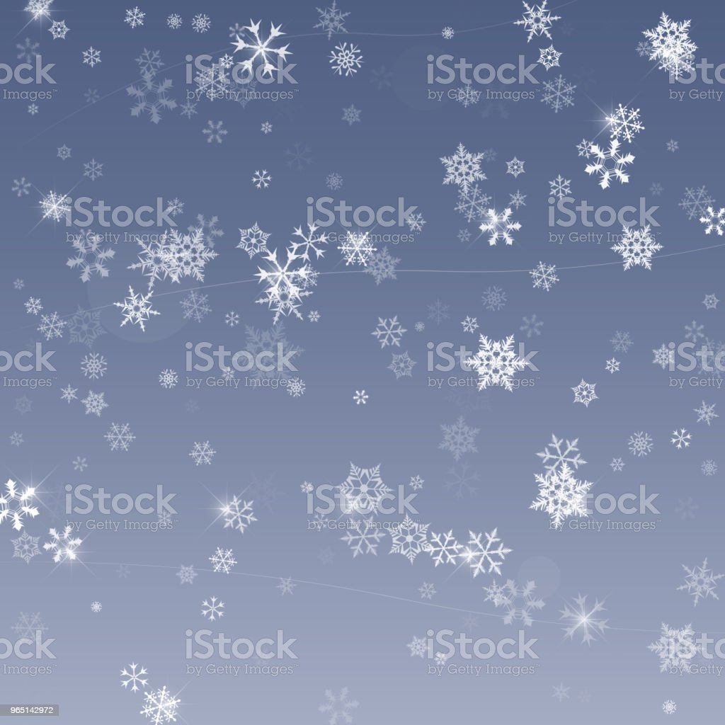 Falling snow. Abstract snowflake background for your winter design. Vector illustration royalty-free falling snow abstract snowflake background for your winter design vector illustration stock vector art & more images of backgrounds