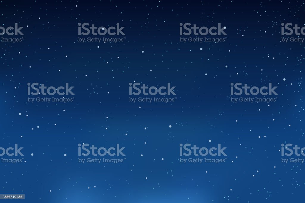 Falling snow, blue winter background. Snowflakes in the sky. vector vector art illustration