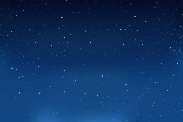 飄落的雪,藍色冬季背景。天空中的雪花。向量 - sky 幅插畫檔、美工圖案、卡通及圖標