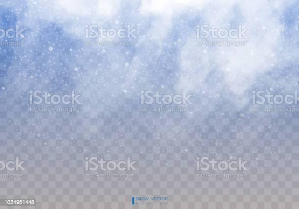 Neve Che Cade Su Uno Sfondo Trasparente Nuvole Di Neve O Sudditi Nebbia Nevicate Sfondo Astratto Fiocco Di Neve Caduta Di Neve Illustratore Vettoriale 10 Eps - Immagini vettoriali stock e altre immagini di A forma di stella