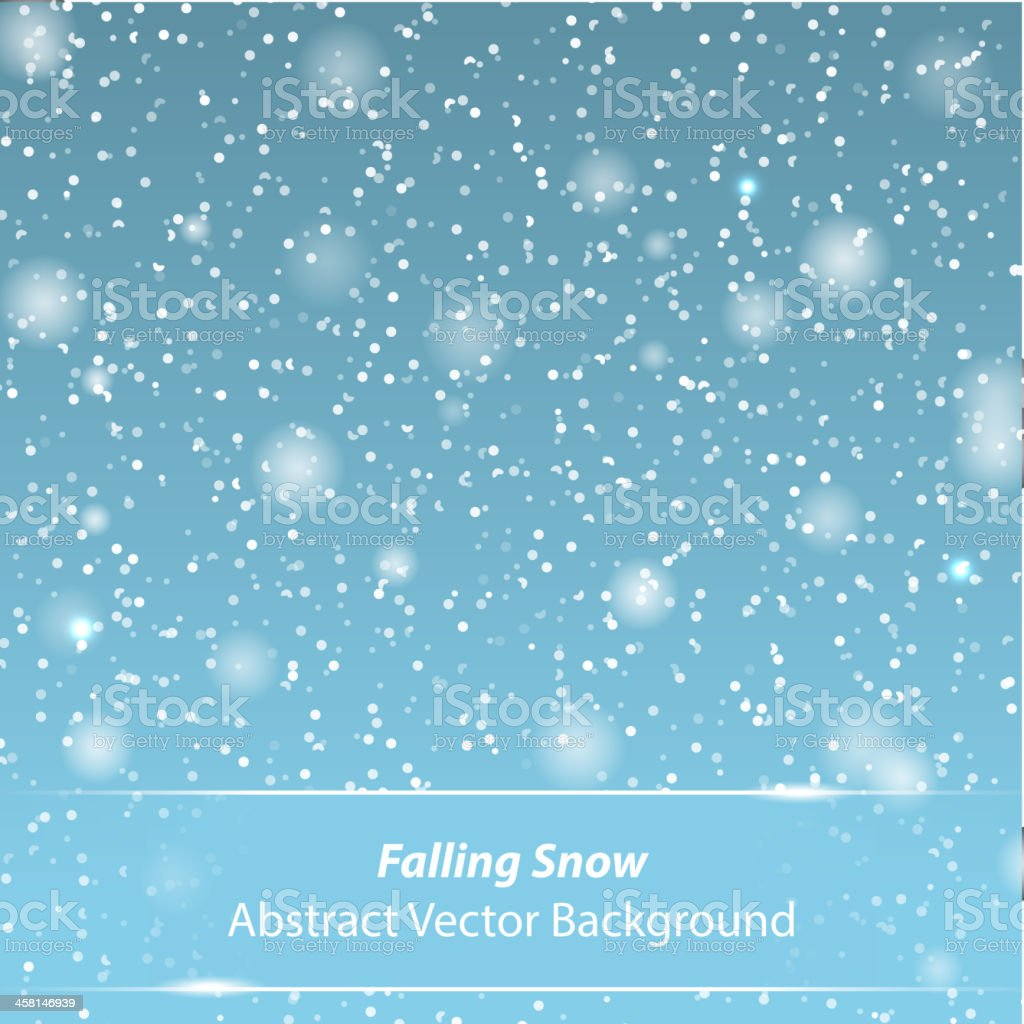 Falling snow vector background royalty-free stock vector art