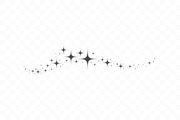 falling star. cloud of stars isolated on transparent background. vector illustration - paranormalny stock illustrations