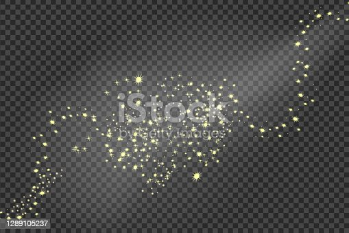 istock Falling stars effect on checkered background.Explosion in the universe. 1289105237