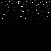 glittering stars falling down background