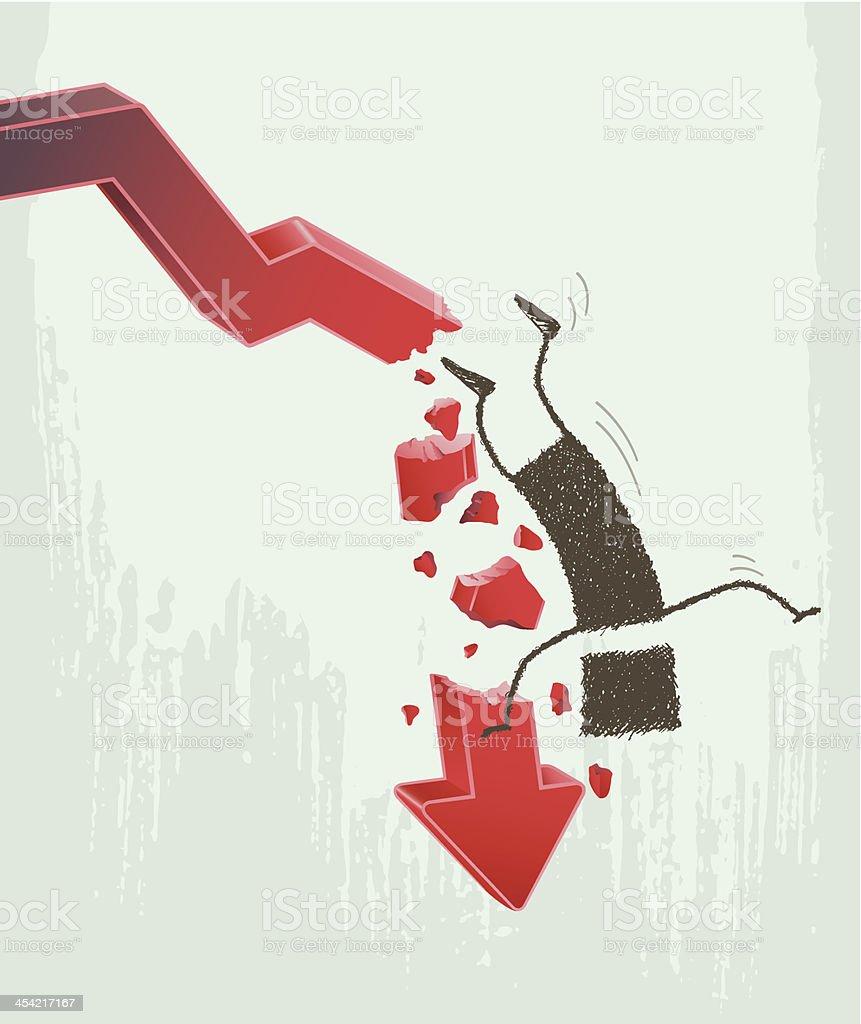 Falling royalty-free stock vector art