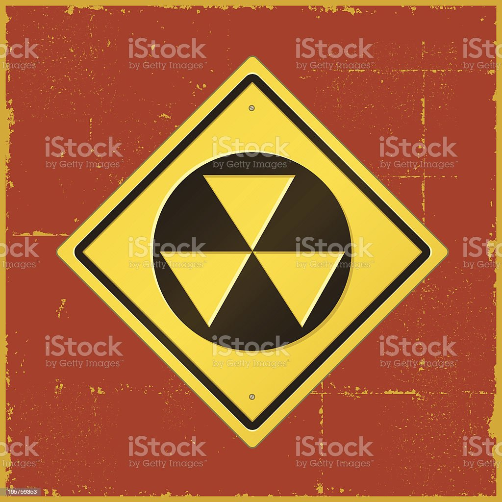 Fallout Road Sign vector art illustration