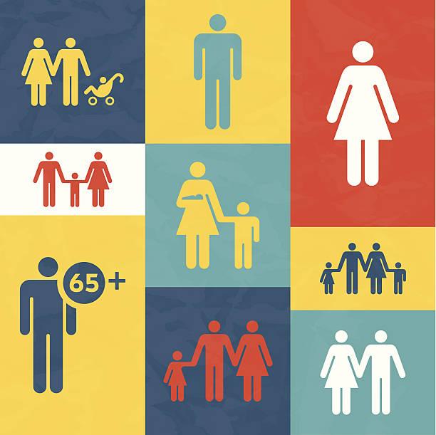 illustrations, cliparts, dessins animés et icônes de les familles et les personnes - planning familial