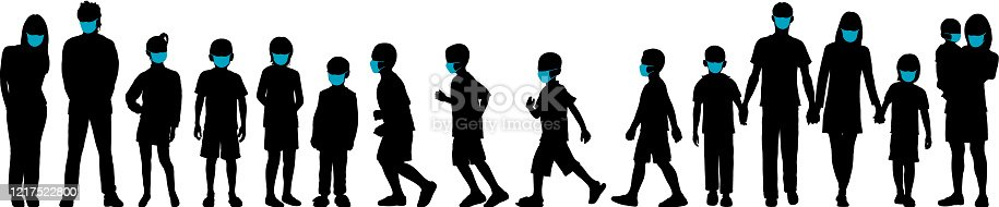 istock Families Under Covid-19 1217522800