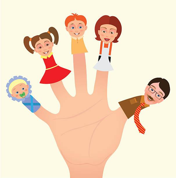 illustrazioni stock, clip art, cartoni animati e icone di tendenza di le famiglie - mano donna dita unite
