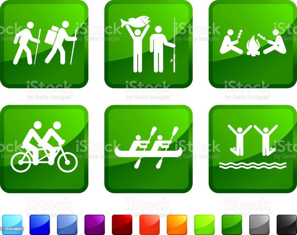Family Activity vector icon set royalty-free stock vector art