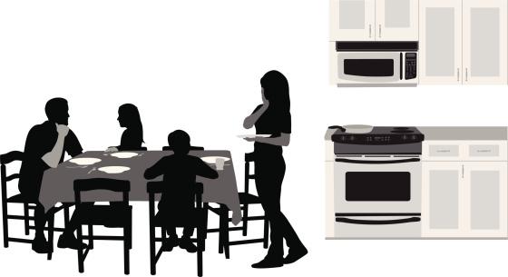 Family Affair Vector Silhouette