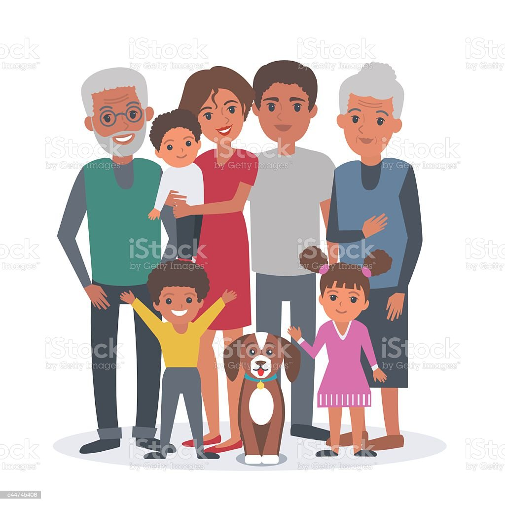 royalty free black family clip art  vector images cartoon african american family clipart african american family reunion clipart